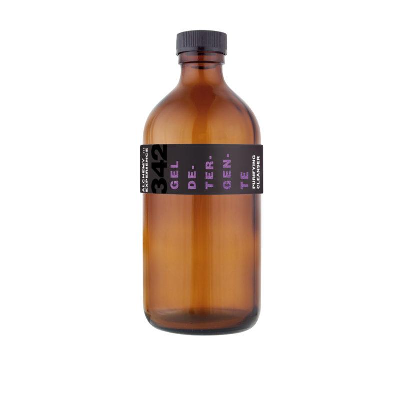 gel detergente 342 bottiglia vetro ambrato 500 ml alchemy experience
