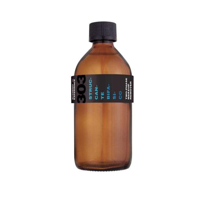 struccante bifasico 303 bottiglia vetro ambrato 200 ml alchemy experience